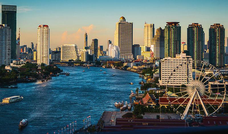 نهر تشاو فرايا اماكن سياحية في بانكوك تايلاند